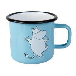 Moomin RETRO Light Blue Enamel Mug 3,7 dl