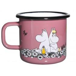Moomin RETRO Together Forever Enamel Mug 3,7 dl