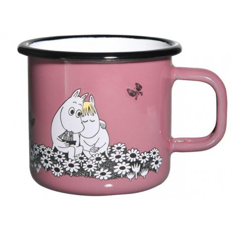 Moomin RETRO Together Forever Enamel Mug 3,7 dl