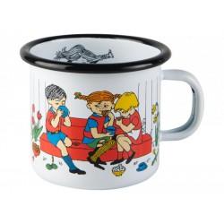 Pippi Longstocking Cup of Coffee Enamel Mug 2,5 dl