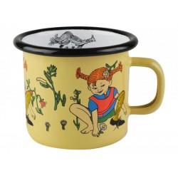 Pippi Longstocking Picking Flowers Enamel Mug 2,5 dl