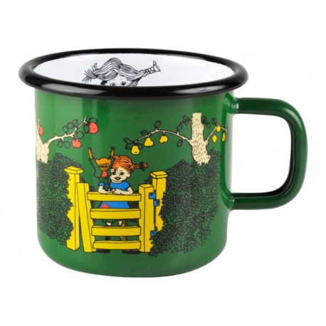 Pippi Longstocking At The Gate Enamel Mug 3,7 dl