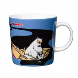 Moomin Mug Håll Sverige Rent - Keep Waters Clean blue 0,3 L