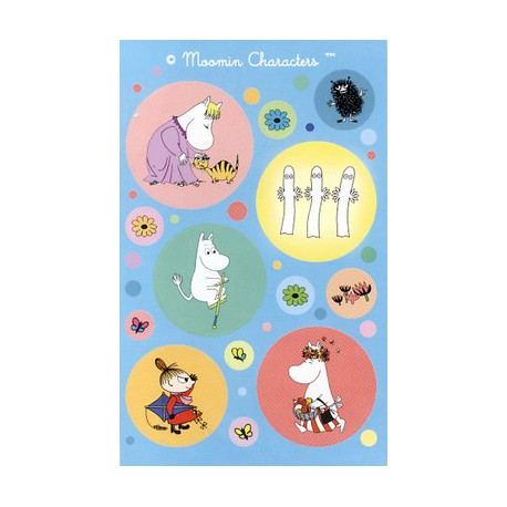 Moomin Blue Stickers
