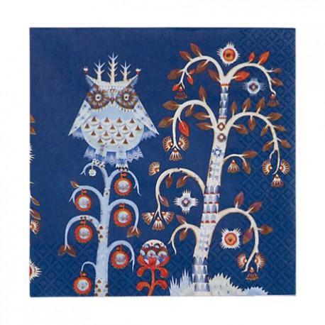 IITTALA Taika Blue Serviette Napkins 33 x 33 cm