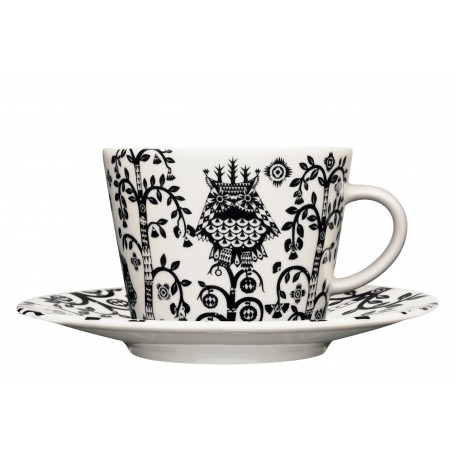 IITTALA Taika Black Coffee Cup 0,2 L and Saucer 15 cm