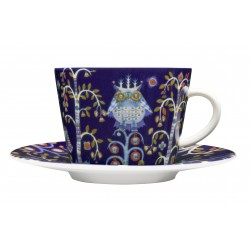IITTALA Taika Blue Coffee Cup 0,2 L and Saucer 15 cm