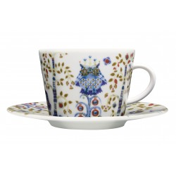 IITTALA Taika White Coffee Cup 0,2 L and Saucer 15 cm