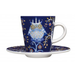 IITTALA Taika Espresso Cup 0,1 L and Saucer 11 cm blue