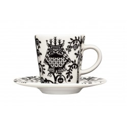 IITTALA Taika Espresso Cup 0,1 L and Saucer 11 cm black