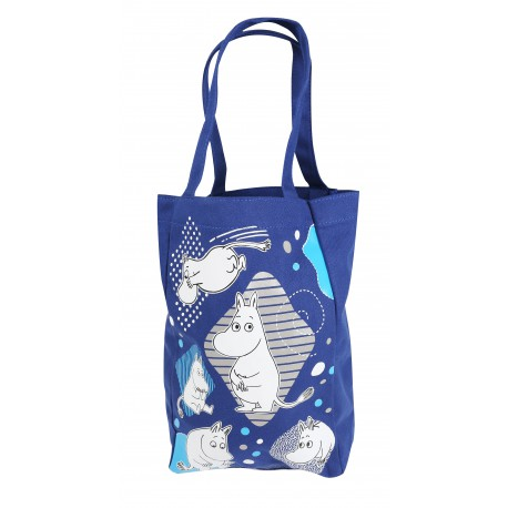 Moomin Canvas Shopping Bag Blue Moomintroll
