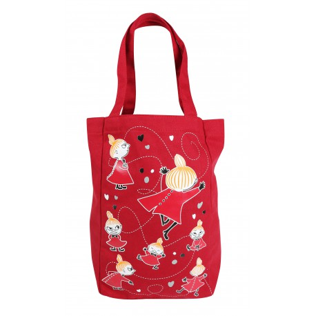 Moomin Canvas Shopping Bag Red Little My
