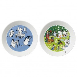 Moomin Collector's edition plate 2-pack 2016: Blue & Tove 100