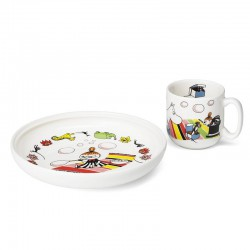 Arabia Moomin Child Set Plate and Mug Little My