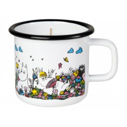 Muurla Moomin Enamel candle 3,7dl / 50h Shared Moment