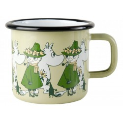 Moomin Friends enamel mug, Green 3,7 DL
