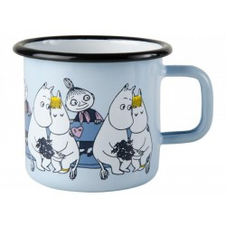 Moomin Friends enamel mug, Blue 3,7 DL