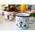 Moomin Friends enamel mug, Blue 3,7 DL