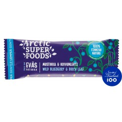 Arctic Superfoods Snack bar 30g Wild Blueberry & Birch Leaf RETAIL PACK (24 pcs)