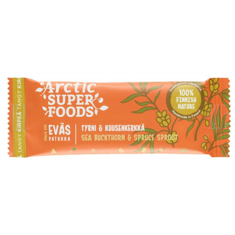 Arctic Superfoods Snack bar 30g Sea Bucktorn & Spruce Sprout RETAIL PACK (24 pcs)