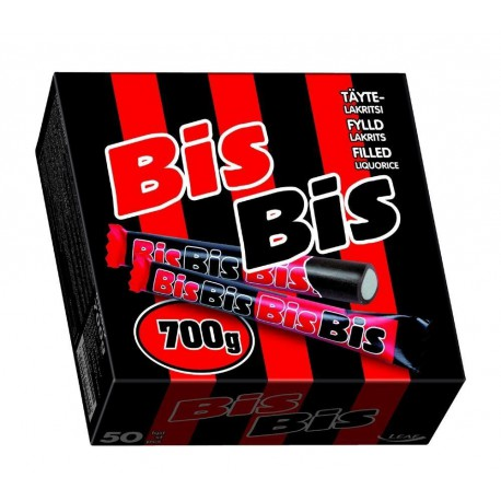 MALACO BisBis - Filled salty licorice - Box with 50 sticks 700g