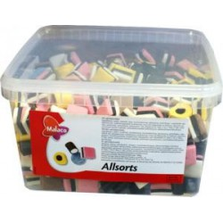 Malaco Allsorts - Licorice mix 2 kg