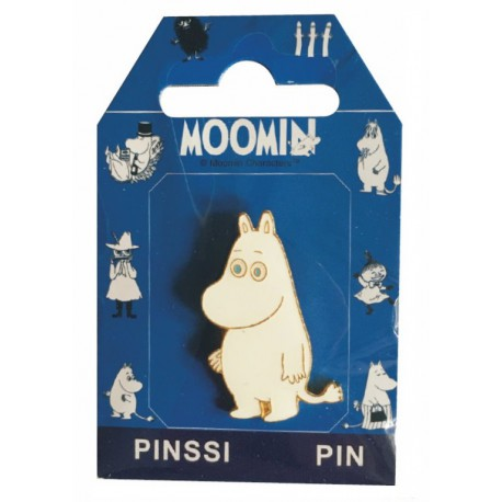 Moomintroll Pin with Finnish flag