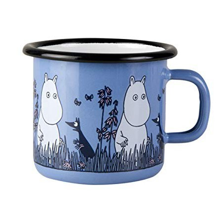 Moomin Friends blue Moomin Enamel Mug 2,5 dl