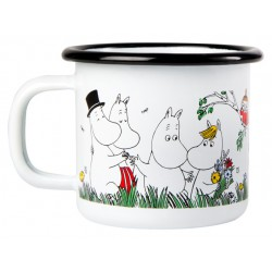 Moomin Happy Family Enamel Mug 1,5 dl