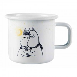 Moomin Winter Romance white Enamel Mug 3,7 dl