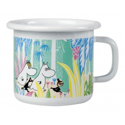 Moomin Enamel Mug Moomins in the Jungle 2,5 dl
