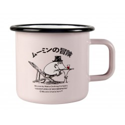 Moomin Enamel Mug Makia Adventures of Moominpappa 3,7 dl