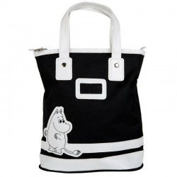 Moomin Black Canvas Bag with zipper 22 x 34 x 11 cm Martinex