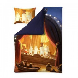 Moominvalley Summer Sateen Duvet Cover set with pillow case Finlayson