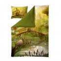 Moominvalley Spring Sateen Duvet Cover set with pillow case Finlayson