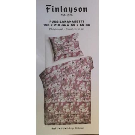 Finlayson Satumuumi Pink Duvet Cover Set 150 x 210 cm