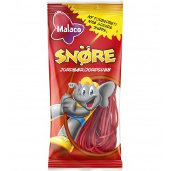 Malaco Snöre strawberry licorice 100g