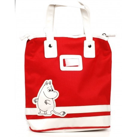 Moomin Small Tote Bag Moomitroll Red