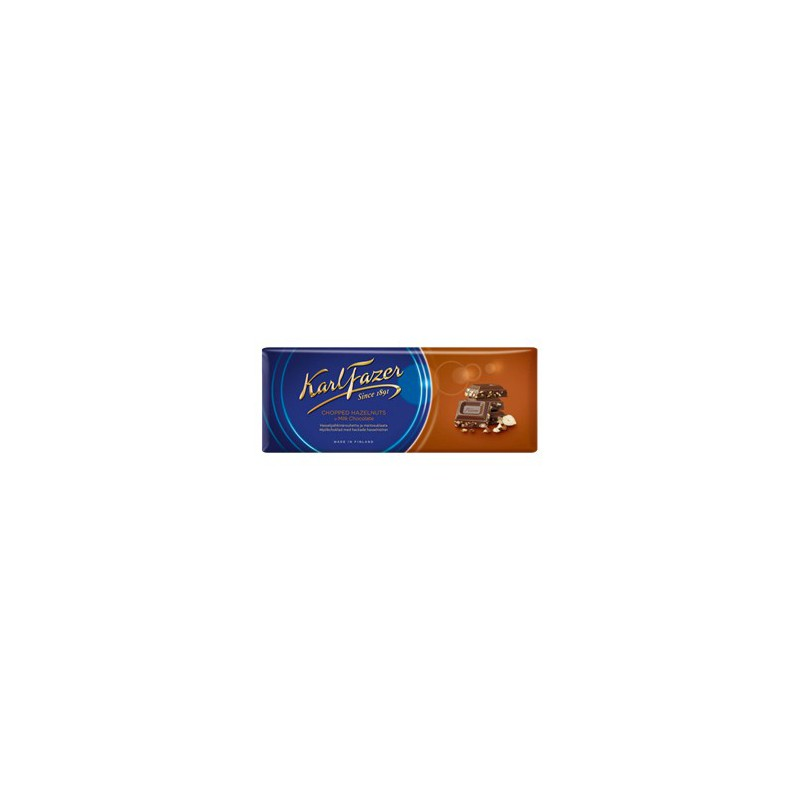 Karl Fazer Chopped Hazelnuts in milk chocolate 200 g