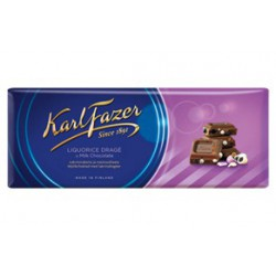 Karl Fazer Liquorice drage in milk chocolate 200 g