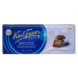 Karl Fazer Blueberry Yoghurt Crisps in milk chocolate 190 g