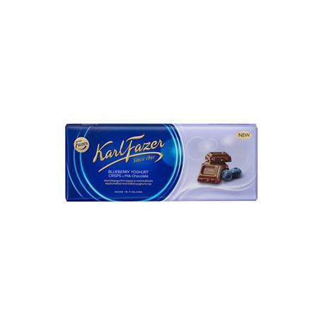 Karl Fazer Blueberry Yoghurt Crisps in milk chocolate 190 g