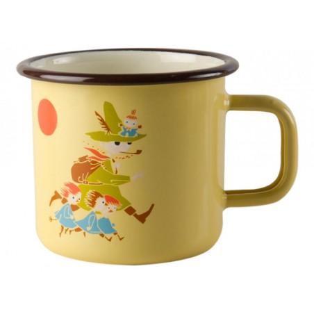Moomin VINTAGE Snufkin Enamel Mug 3,7 dl