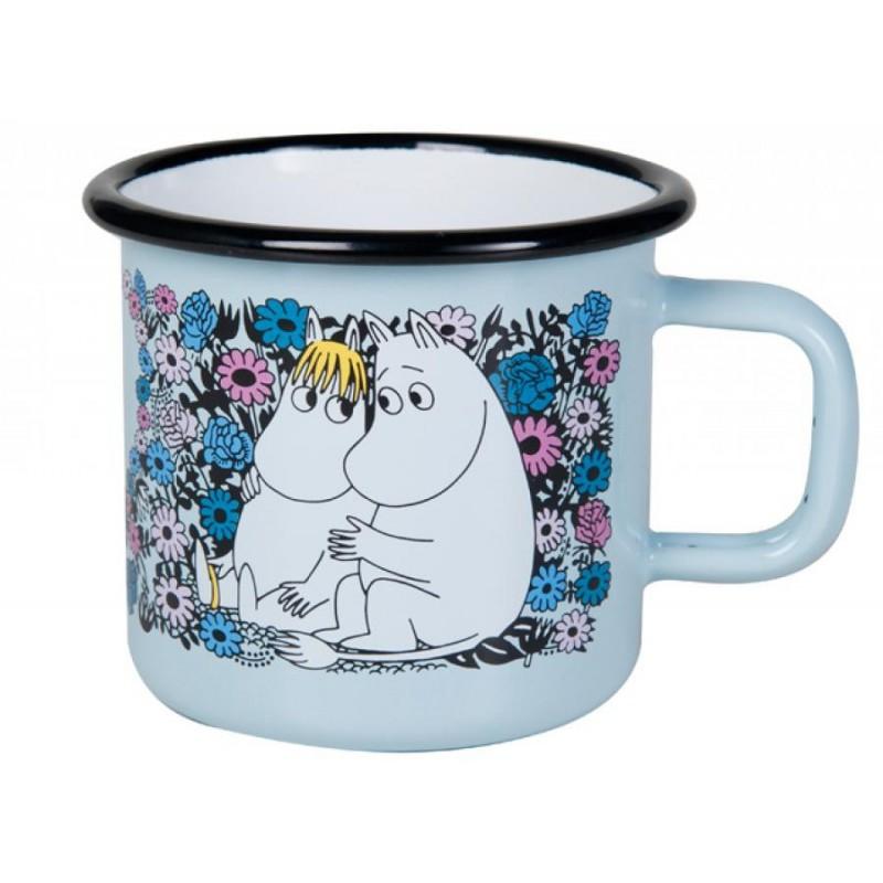 Moomin Lovebirds Enamel Mug 3,7 dl